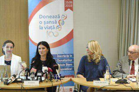 Ministerul Sănătății va plăti taxe de 8.300 euro în acest an pentru ca România să aibă acces la registrele internaţionale cu donatorii de celule stem hematopoietice