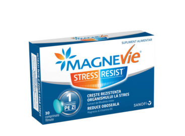 Sanofi anunță lansarea MagneVie Stress Resist® – formulă inovatoare, cu dublă acțiune în controlul stărilor de stres: crește rezistența la stres și nivelul de energie al organismului!