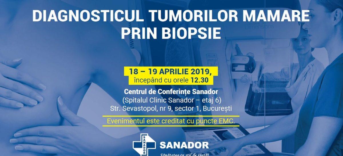 """Evenimentul """"Diagnosticul tumorilor mamare prin biopsie"""", organizat în perioada 18-19 aprilie de Spitalul Clinic Sanador"""