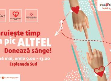 Vino și salvează o viață!  Donează sânge la Sun Plaza!