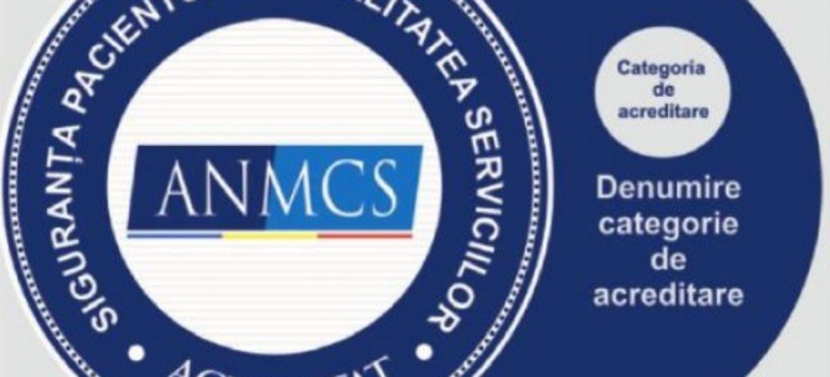 ANMCS a acreditat 8 spitale în noiembrie, din care 3 în categoria a II-a