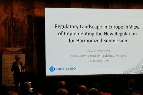Simpozionul de Studii Clinice 2019 | Dr. Barbara Schug (SocraTec R&D): Este nevoie de mai multă colaborare între statele membre pentru a susține realizarea de studii clinice în UE