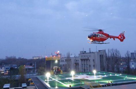 Noul heliport al Spitalului Universitar, situat pe Blocul Operator Central, a devenit operațional
