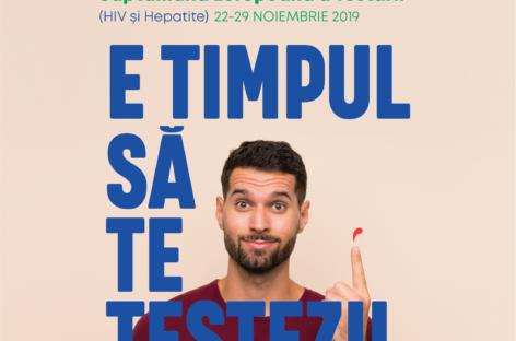 E TIMPUL SĂ TE TESTEZI! – o campanie ARAS & Co în cadrul Săptămânii Europene a Testării pentru HIV și hepatite