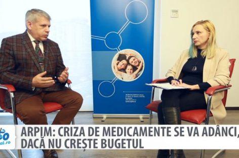 [VIDEO] ARPIM: Criza de medicamente se va adânci, dacă nu crește bugetul