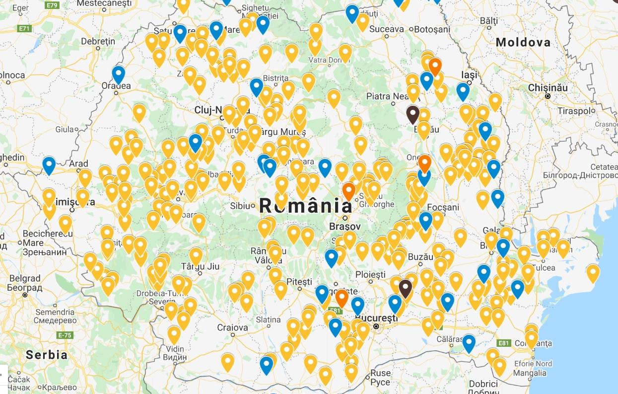 Harta Actualizată A Asistenței Primare 328 De Comune Din Romania