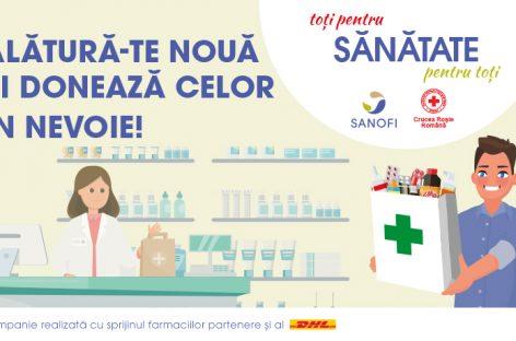 """Sanofi Romania și Crucea Roșie Română demarează la nivel național proiectul umanitar """"Toți pentru Sănătate, Sănătate pentru Toți"""""""