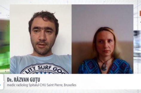 [VIDEO] Exclusiv Dr. Răzvan Guțu, radiolog în Belgia: Ne permitem să iradiem toți pacienții suspecți de COVID-19