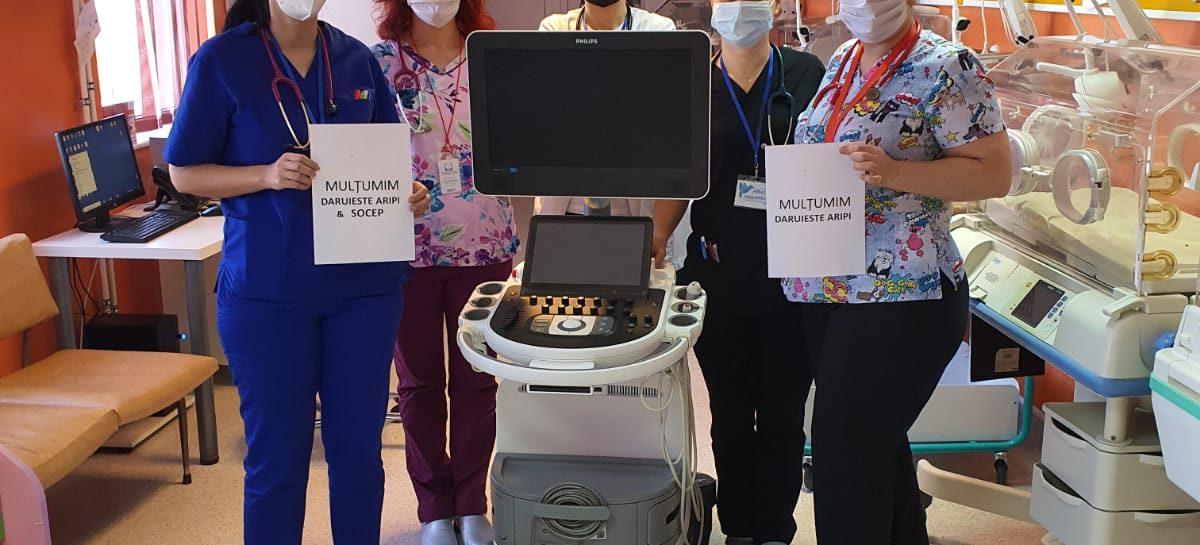 Asociația Dăruiește Aripi dotează secția de Neonatologie de la Constanța, proaspăt reconstruită, cu un ecograf de ultimă generație