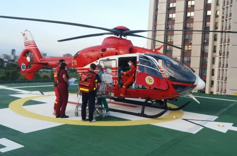 100 de aterizări pe heliportul Spitalului Universitar de Urgență. Ultimul pacient salvat, un bebeluș de două zile