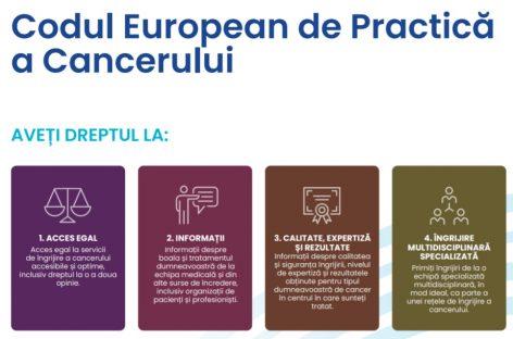 Codul European de Practică în domeniul Cancerului: 10 drepturi generale ale pacienților oncologici