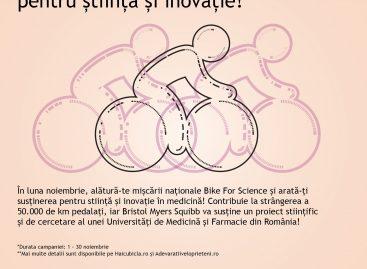 Bike For Science, un grant pentru universitățile de medicină și farmacie din România