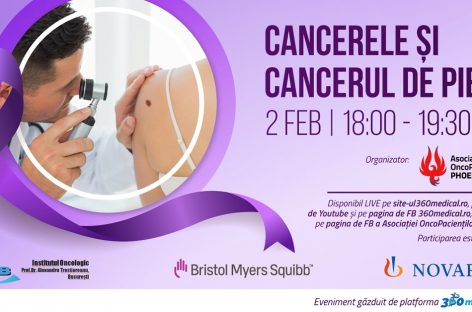"""""""Cancerele și Cancerul de piele"""", eveniment online cu prilejul Zilei Mondiale de Luptă împotriva Cancerului"""